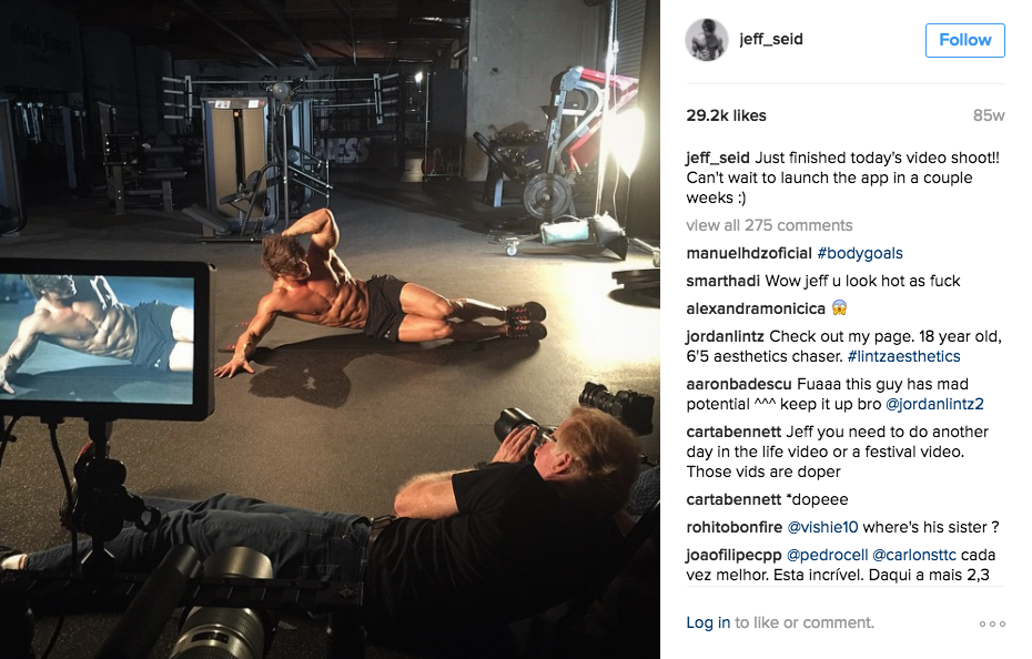 Having Fun In The Gym With Jeff Seid (Photos and Videos)