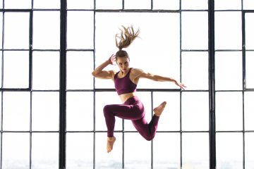 A girl jumping in the air.