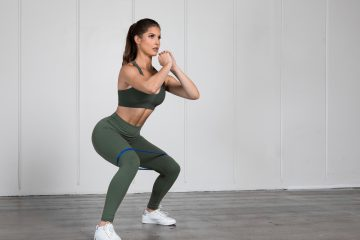 A girl working out in a gym.